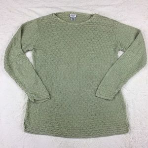 Eileen Fisher green linen sweater size M